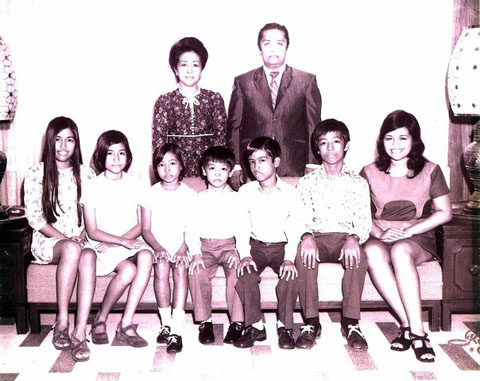Taken in 1972 by Robles Studio. Our one and only formal family picture.