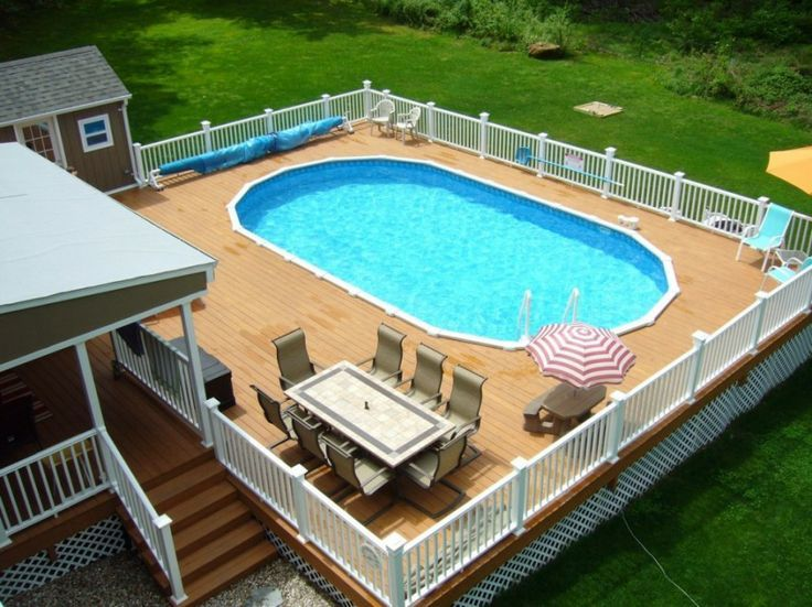 Above ground pool deck plans best above ground pools for Above ground oval pool deck plans