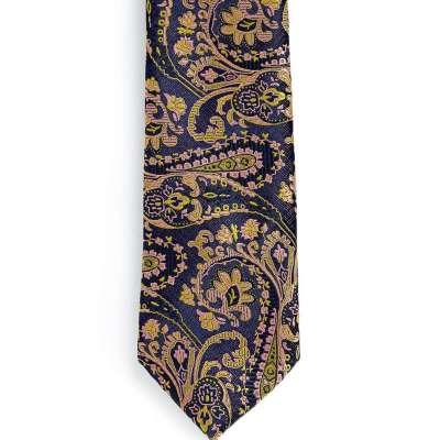 Topman Plum And Gold Jacquard Tie
