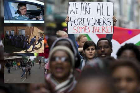 South African Police Disperse Anti-immigrant Protesters