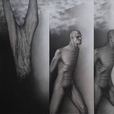Art Exhibition - Runners by Rameshwar Broota (1982)