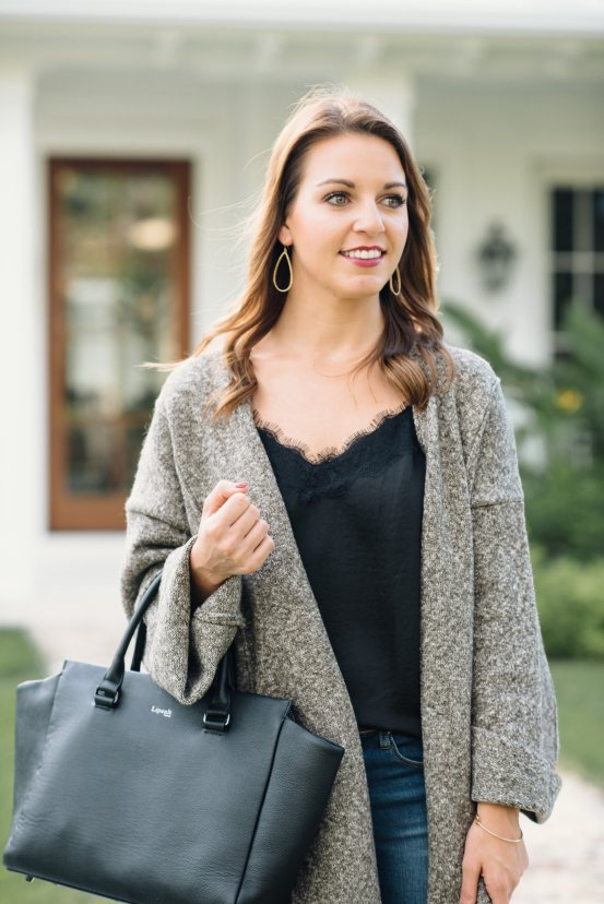 The Perfect Cardigan Coat for Fall by Florida fashion blogger Absolutely Annie