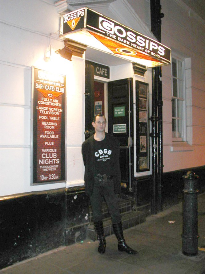 Gossips the original batcave space in London, goth haven, etc