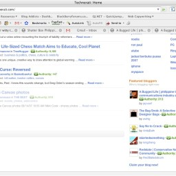 Yay, I made Technorati front page