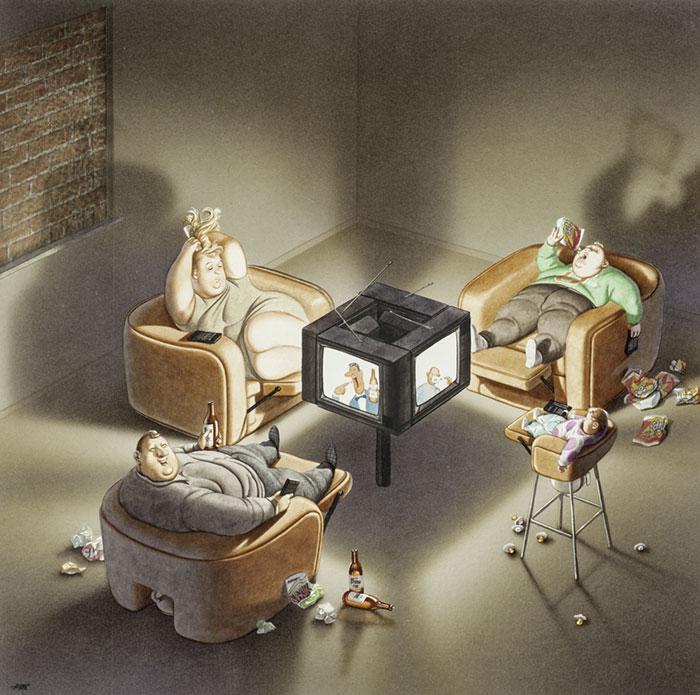 فنان نمساوي يُعبر الواقع الحزين 6-مشاكل-الم�