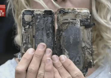 انفجار آيفون 7 في سيارة ويُسبب اشتعالها