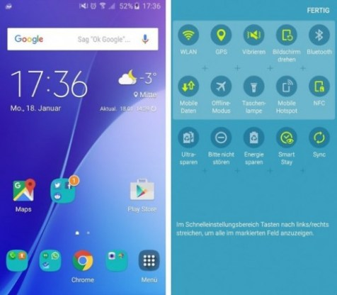 Galaxy A3 Software TouchWiz