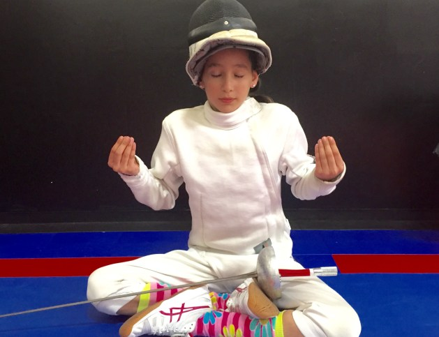 Importance of breath control for fencers