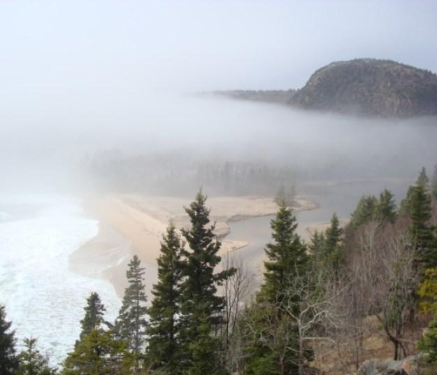 Acadia National Park Sand Beach Beehive wilderness