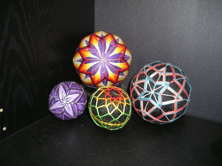 Having a ball with Japanese Temari