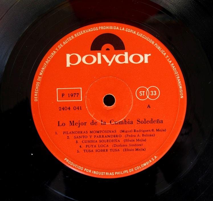 Cumbia Soledeña - éxitos del carnaval - Polydor 2404041 - 1.977 (2/6)