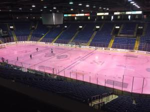 Santander Arena, home of the Reading Royals, before the crowds have arrived. Photo by Benjamin Smith