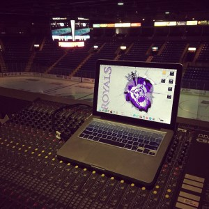 The view from Ben's workspace at the Reading Royals. Photo courtesy of Ben Smith.