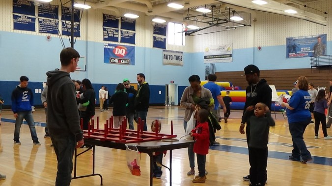 Exeter residents play games at the annual Winter Carnival hosted by the baseball team. Photo: Ariane Cain