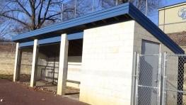 The home dugout at Exeter's varsity baseball field. (Photo: Amanda Cain)