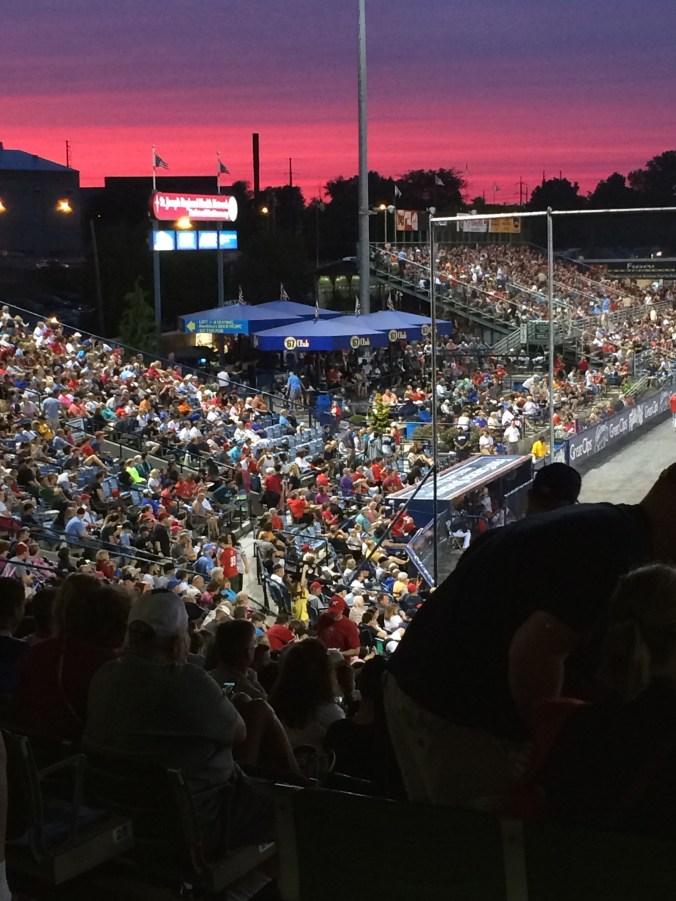On July 3, 2016 FirstEnergy Stadium was filled as a record 9,976 fans entered the ballpark. Photo by Ariane Cain.