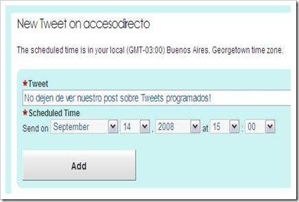 Add a New Tweet