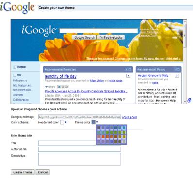 igoogle-theme-creator