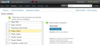Borrar contacto LinkedIn