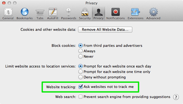 Do Not Track Safari