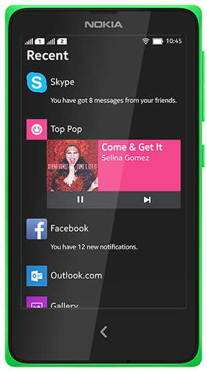 Nokia X frente