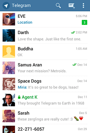 Telegram en Android