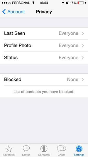 Actualización de Whatsapp iOS