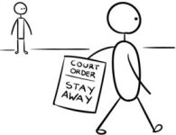 Stick figure restraining order