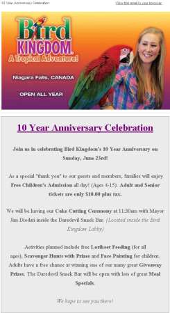 20130619 bird kingdom email newsletter 245x450