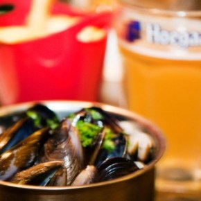 "Mussels, Belgian Beers and All You Can Eat ""Frites"" on the Quay - Brussels Sprouts Singapore"