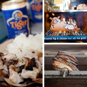 Filipino Roast Pork and Chicken at Mang Kiko's Lechon, Singapore