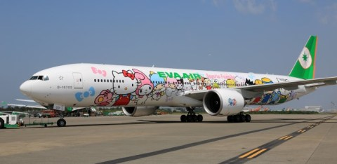 hello kitty jet plane eva airlines