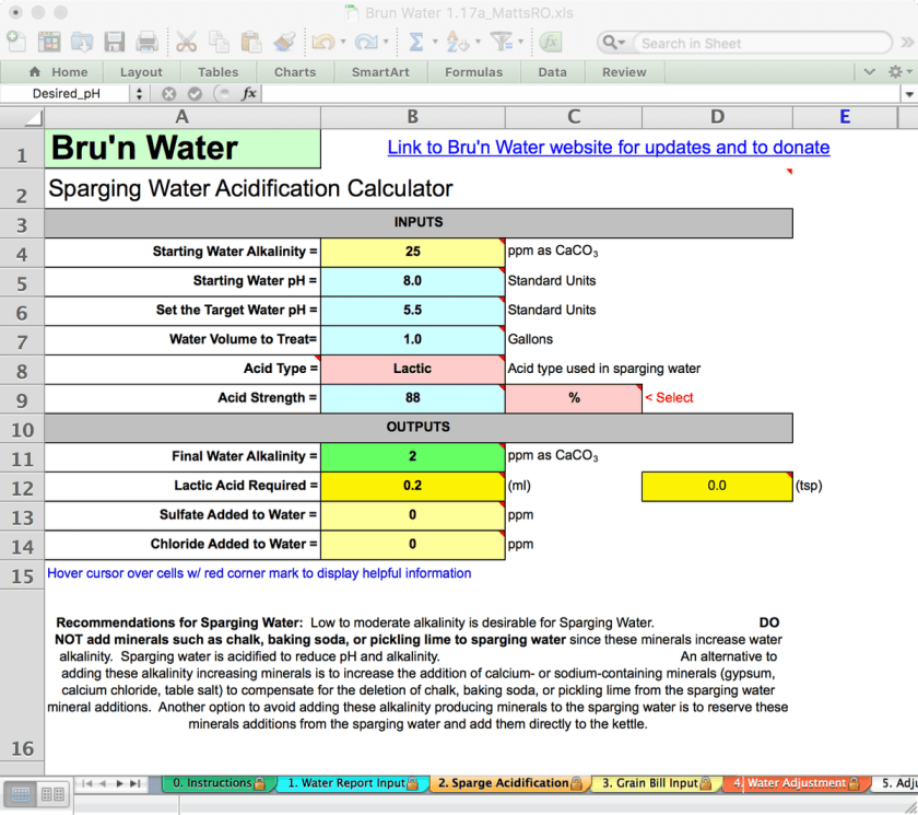 Bru'n Water Free Spreadsheet v 1.17a Sparge Acidification with RO as source