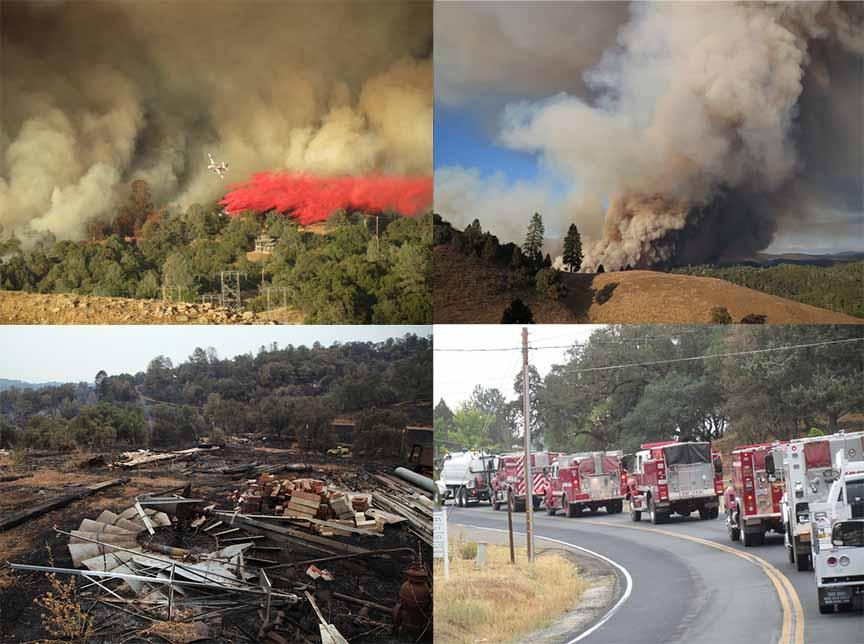 Butte Fire Photographs