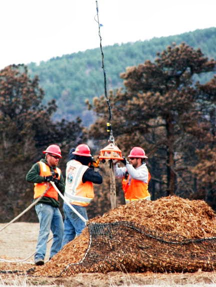 Helicopters to start spreading wood shreds in Butte Fire burn area