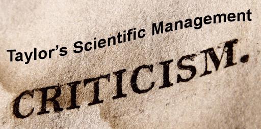Scientific Management Criticism