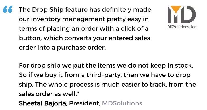 Purchasing management software user, MDSolutions