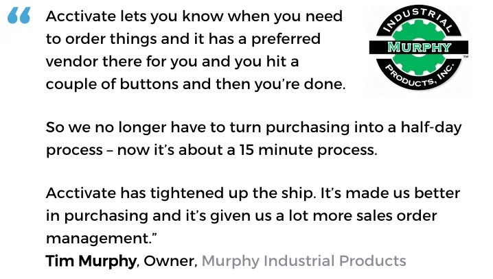 Purchasing management software user, Murphy Industrial Products