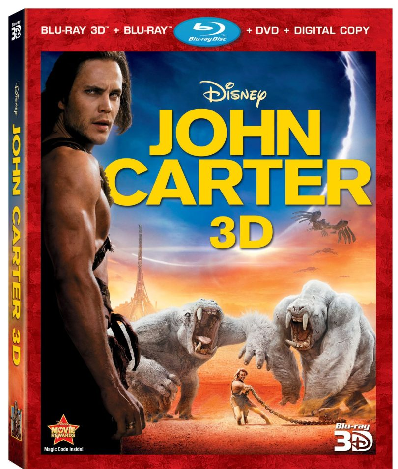 JohnCarter4Disc3DBlurayComboArt