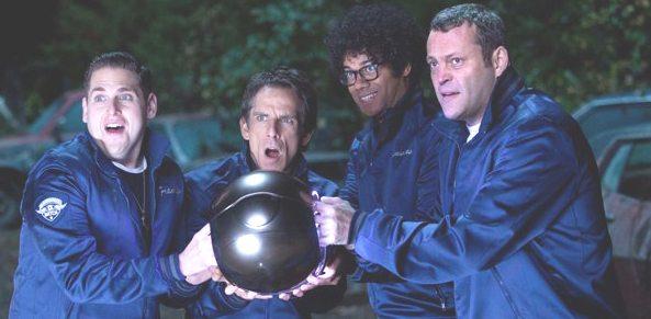 Franklin (Hill), Evan (Stiller), Jamarcus (Ayoade) and Bob (Vaughn)