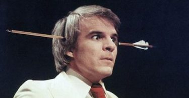 Steve Martin during one of his funny skits