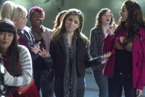 Anna Kendrick (center) plays Beca in Pitch Perfect