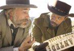 Christoph Waltz as Schultz and Jamie Foxx as Django