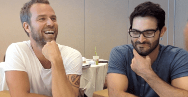At the roundtable with Teen Wolf's JR Bourne and Tyler Hoechlin