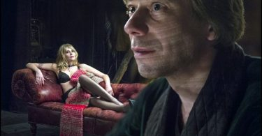Emmanuelle Seigner and Mathieu Amalric play Vanda and Thomas in VENUS IN FUR