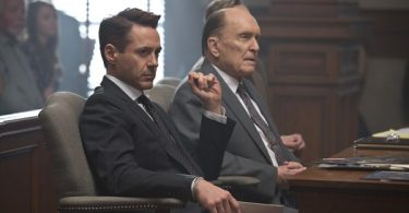 Hank and his fathe  Judge Palmer in the courtroom