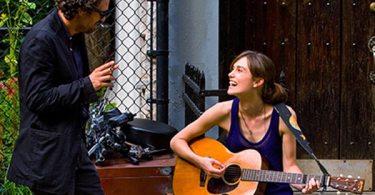 Mark Ruffalo and Keira Knightley in a scene from Begin Again