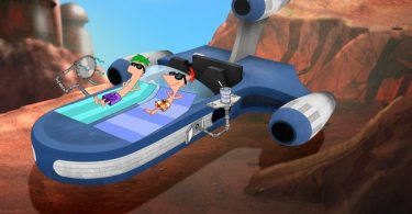 Ferb and Phineas get a suntan on Tatooine