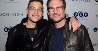"COMIC-CON INTERNATIONAL: SAN DIEGO -- ""Universal Cable Productions Party"" -- Pictured:  (L-R) Rami Malek and Christian Slater -- (Photo by: Evans Vestal Ward/Syfy)"