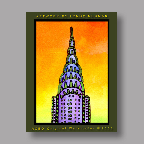 Signed ACEO *Chrysler Building NY #706* by Lynne Neuman